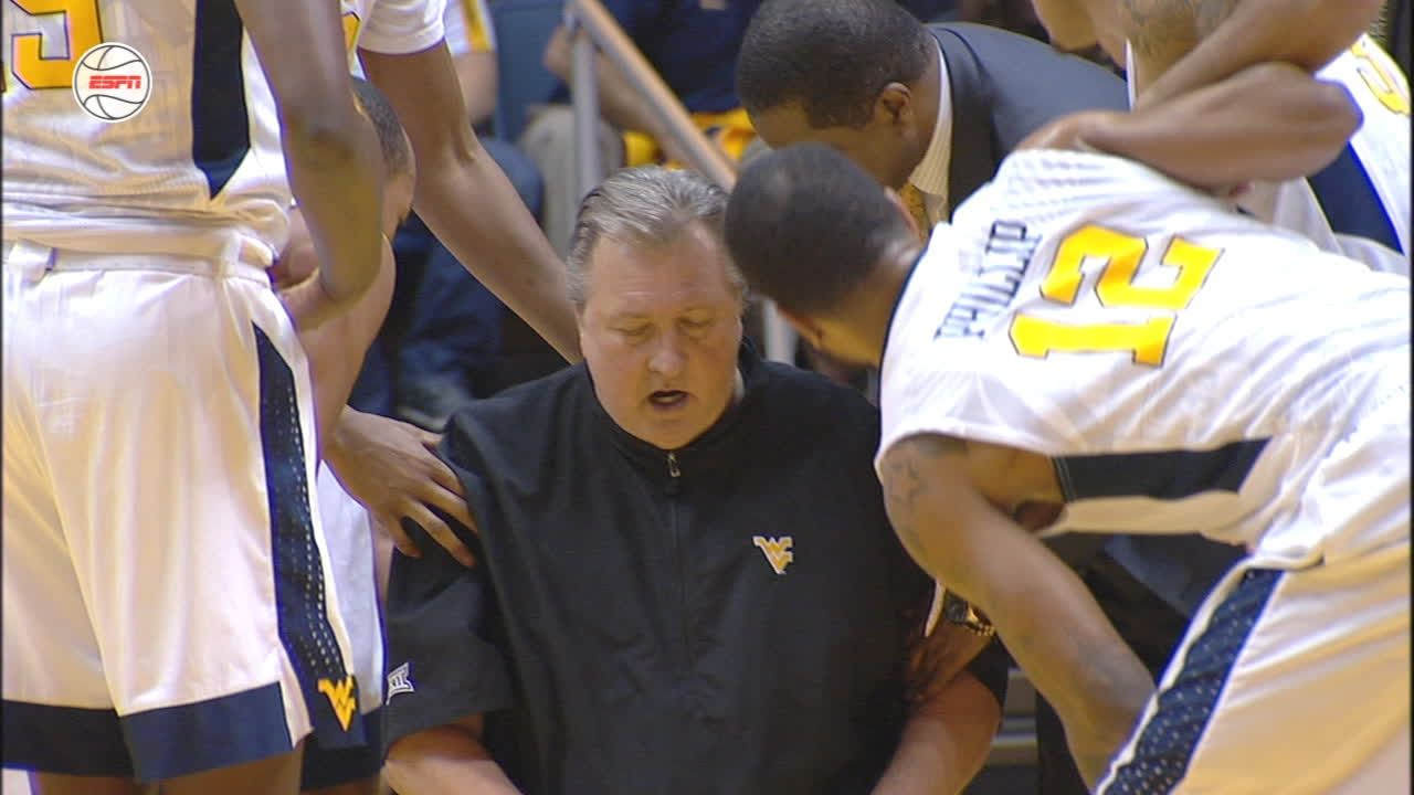 Scary scene as Huggins collapses on court