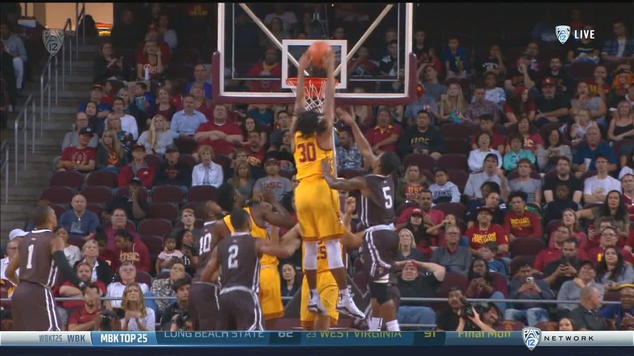 USC's Stewart gets a huge putback slam