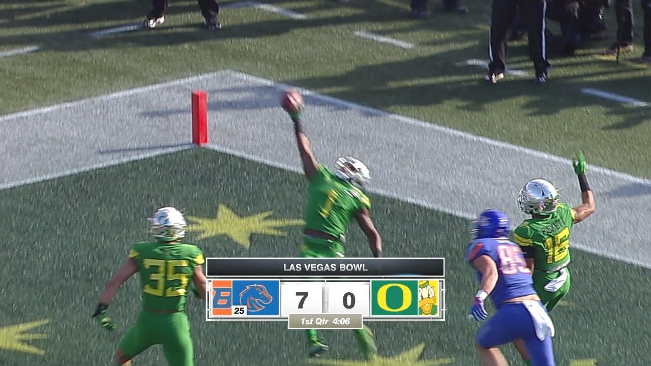 Ducks deny Broncos with 1-handed INT in end zone