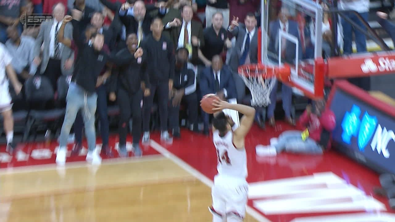 Yurtseven gets an easy dunk to clinch the upset