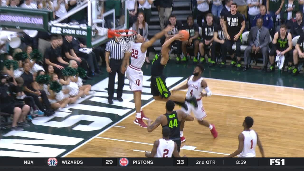 Spartans' Bridges shows no mercy to the rim
