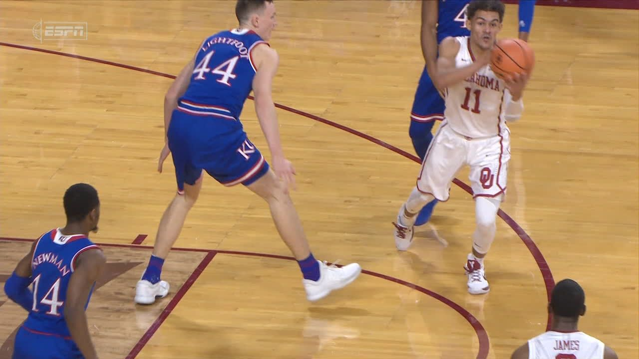 Young's great no-look pass sets up Manek 3-pointer