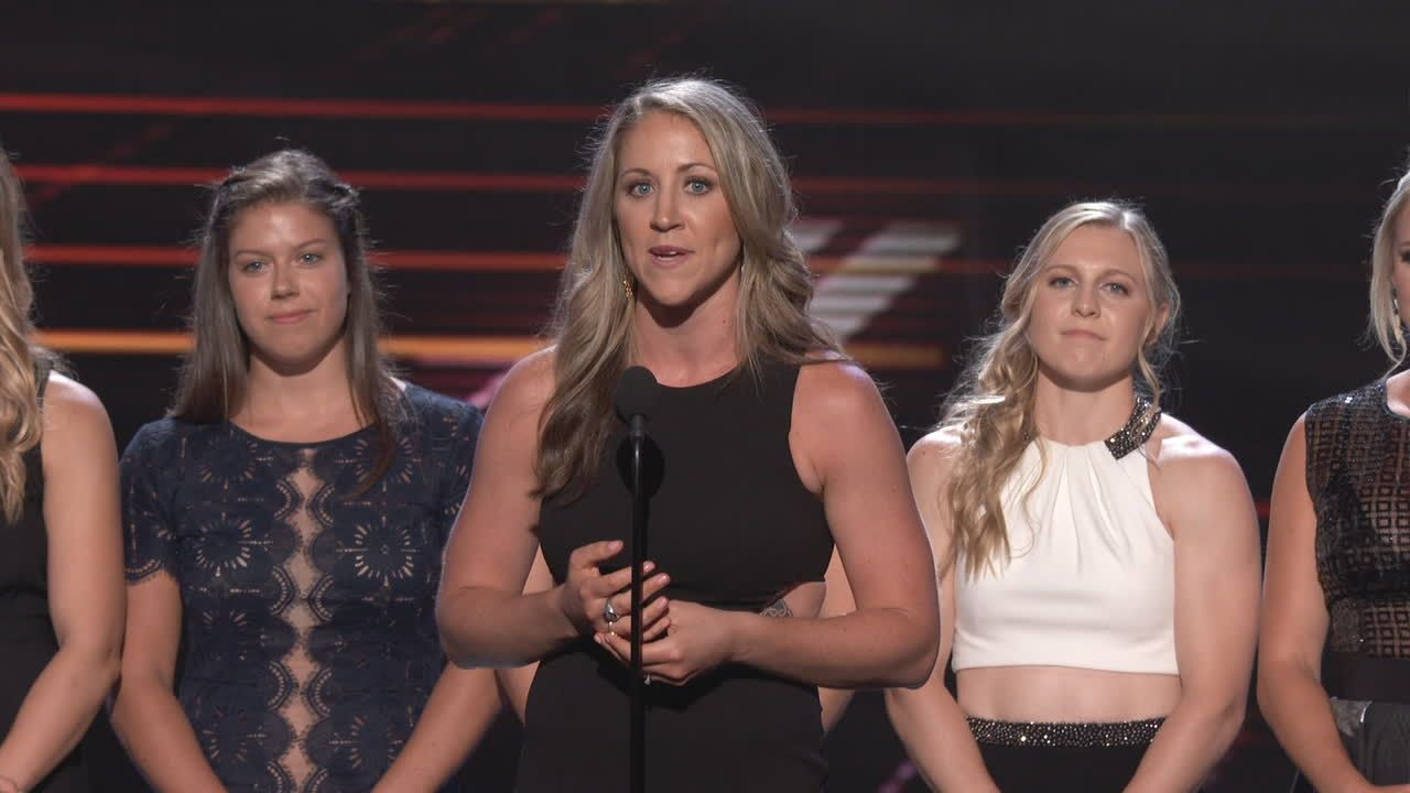 USA Women's Hockey wins ESPYS Best Game