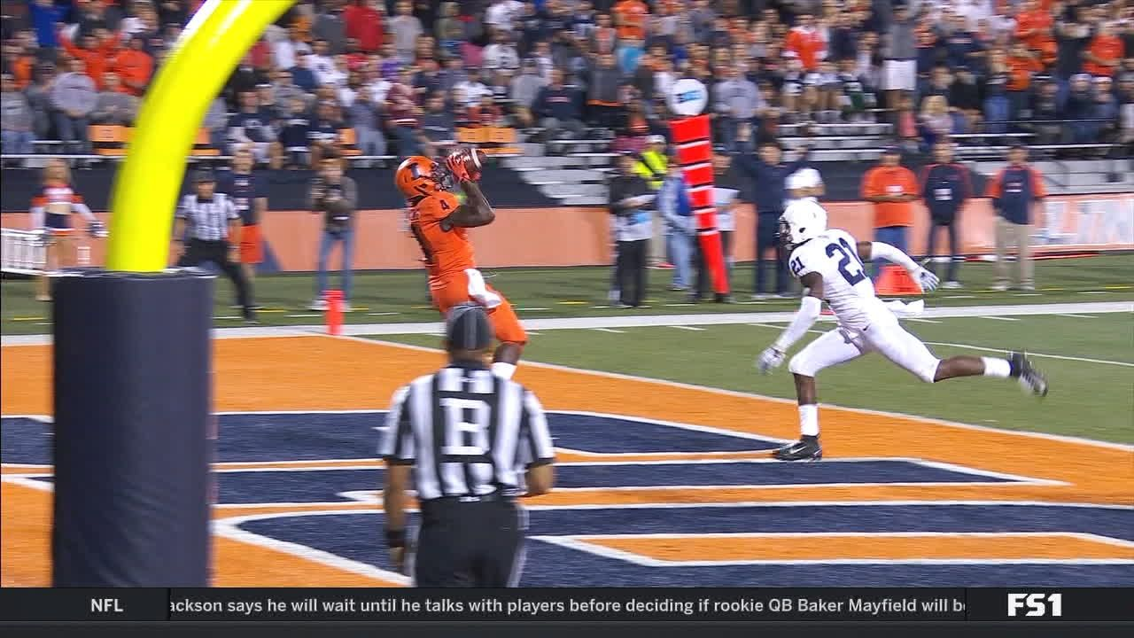 Illinois takes lead on trick play