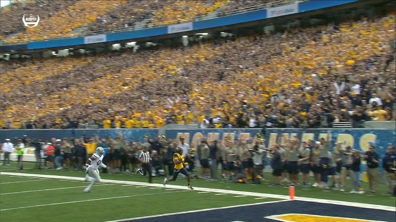 WVU's Grier fires an 82-yard TD to open scoring