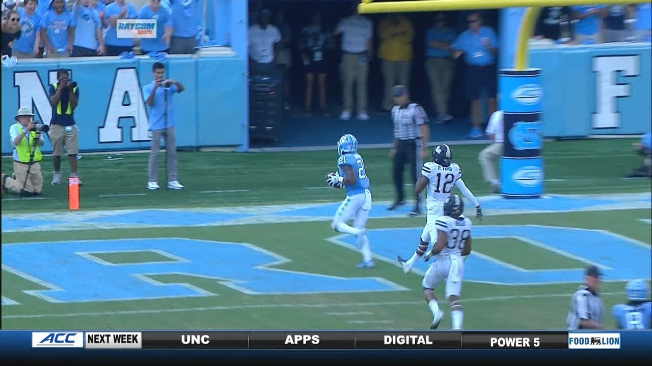 Elliott puts UNC in the lead with 19-yard TD pass