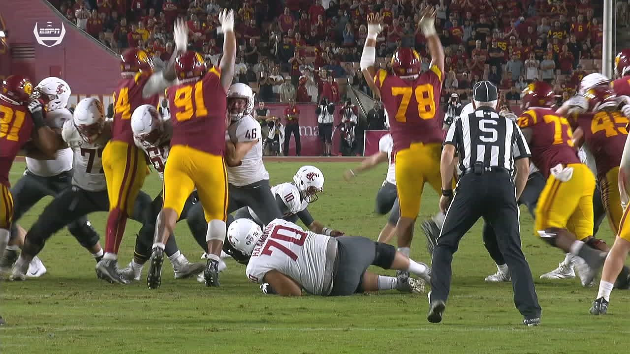 USC blocks Washington St.'s game-tying FG