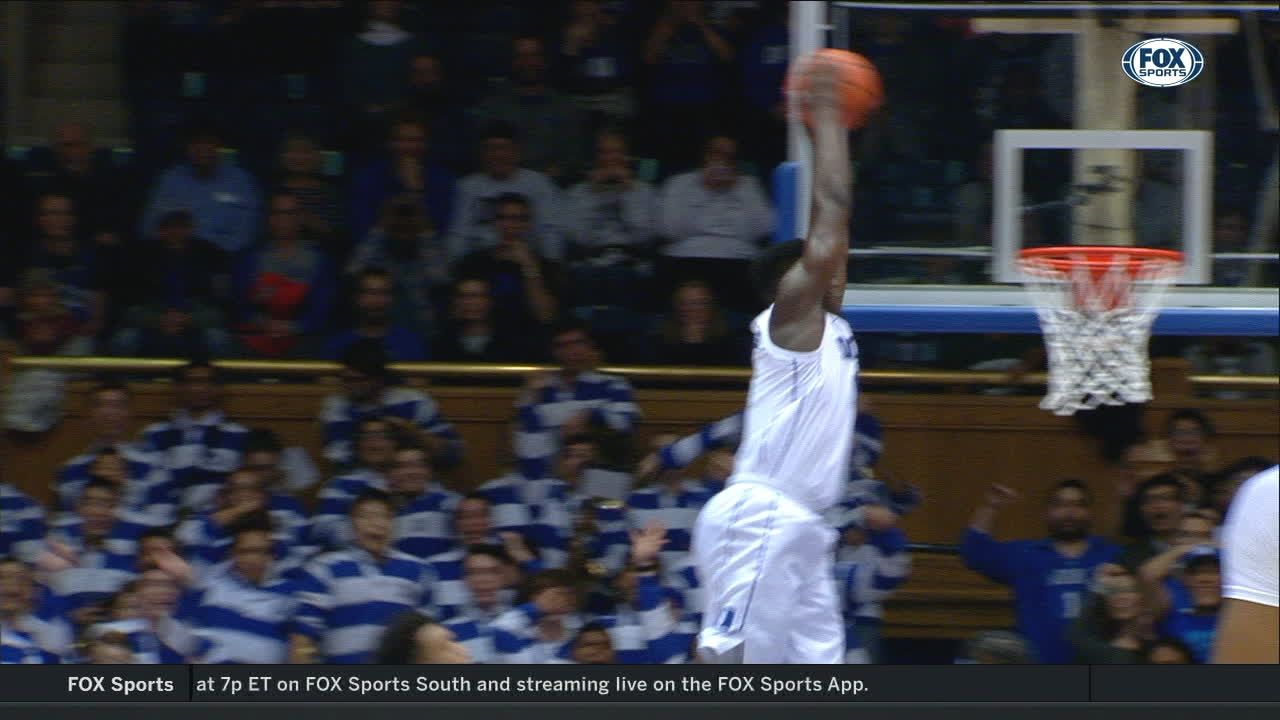 Zion gets up high and throws down