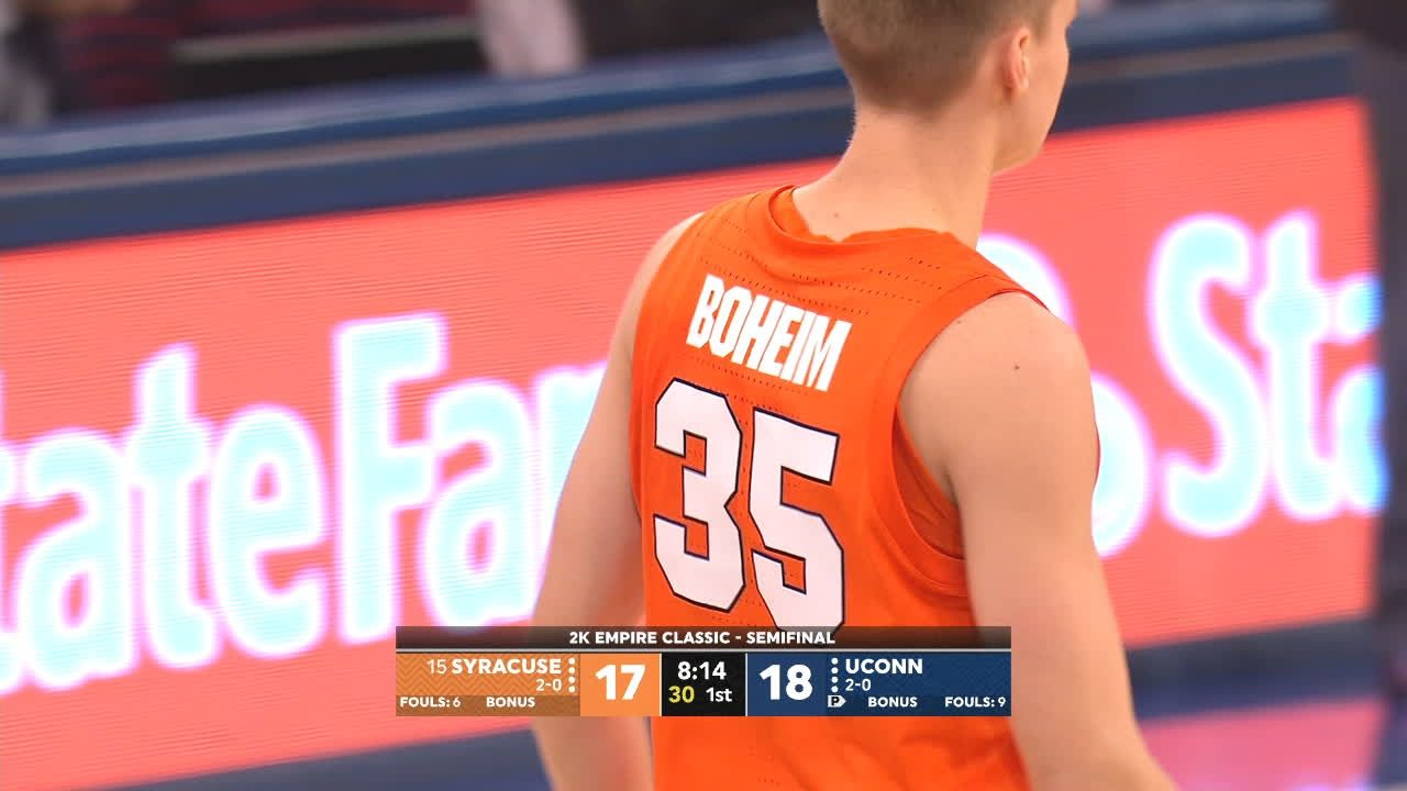 Boeheim's name misspelled on jersey