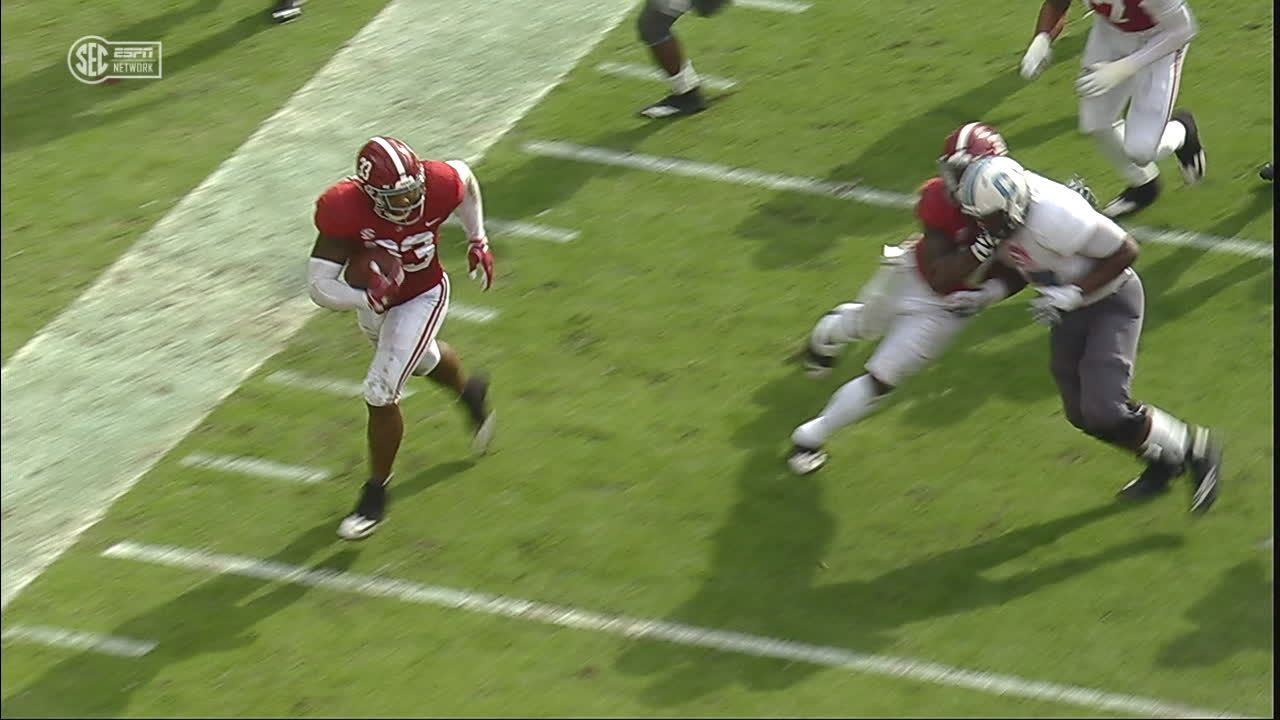 Bama returns fumble for TD