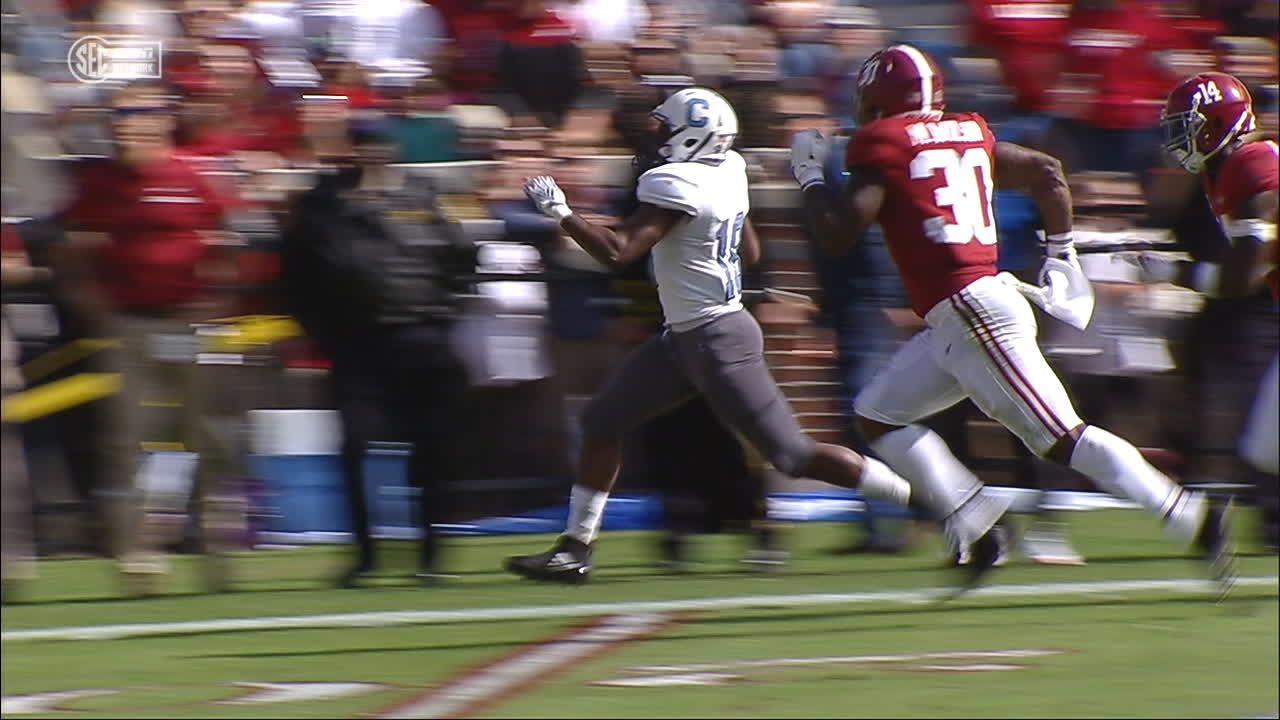 Citadel shocks Bama with long TD run