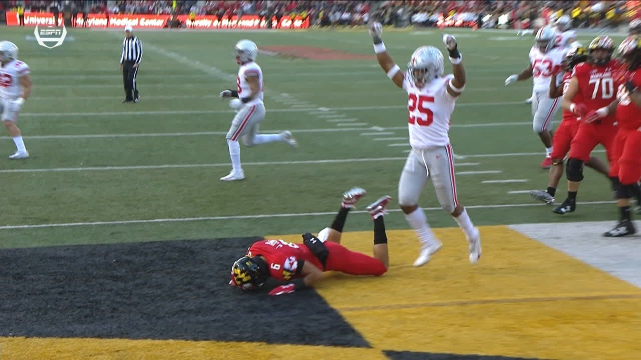 Maryland misses on 2-point conversion, Buckeyes survive