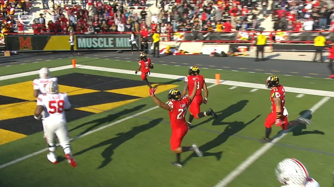 Pick-six helps Terps pad lead on Buckeyes