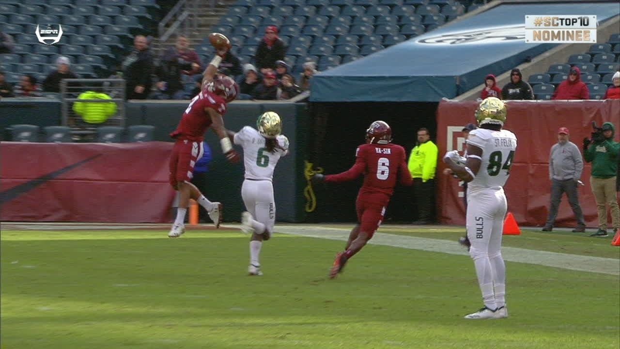 Temple comes up with sick INT