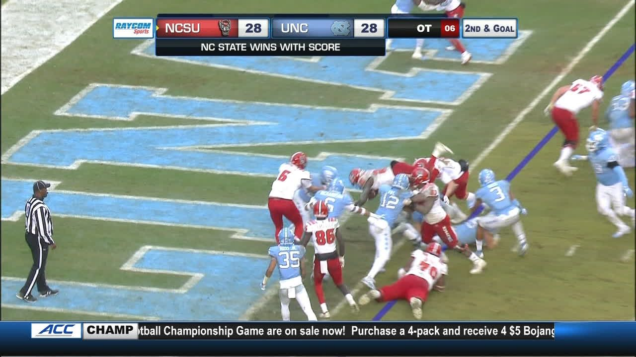 Brawl erupts after NC State scores in OT
