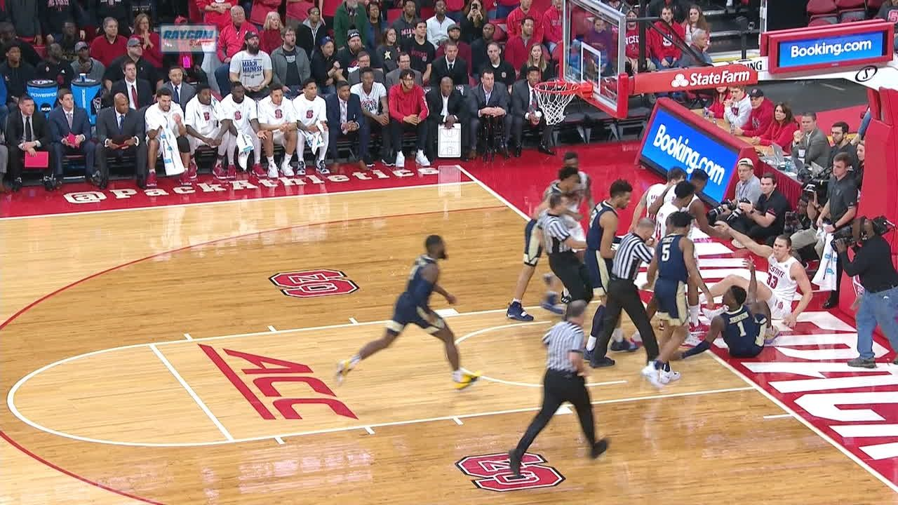 NC State's Walker ejected