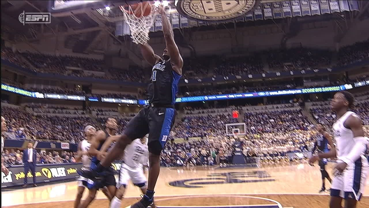 Zion flies in for putback jam