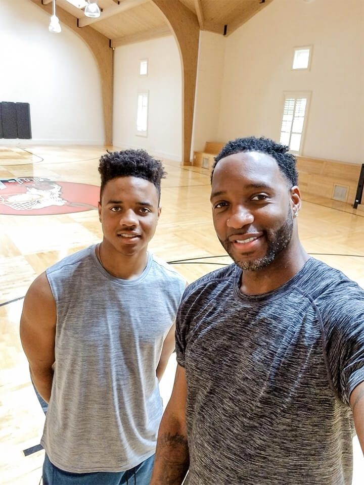 Houston, TX: Draft prospect Markelle Fultz joins McGrady on his home court for some drills. - Captured on a Samsung Galaxy S8